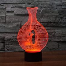 Caged Bird Diy Acrylic 3D Lamp Night Light Usb Led Power Bank Bedroom Wedding Decoration Base Powerbank 7 Color Conversion Lampe(China (Mainland))