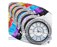 Free shipping Fruity-Color Classic Gel Crystal Silicone Men Lady Jelly Watch Wedding Xmas Gift 100pcs/lot