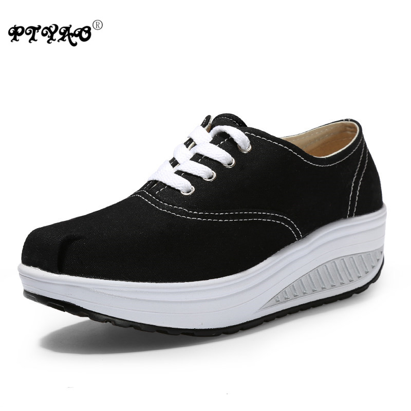 Solid Color Breathable Platform Wedge Sneakers Women Alpargata Canvas Sport Shoes Running for Female Zapatos<br><br>Aliexpress