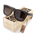 100 Natural Ebony Wooden Sunglasses Men s Luxury Brand Design Square Polarized Sun Glasses With Wooden