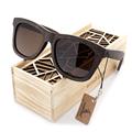 100 Natural Ebony Wooden Sunglasses Men s Luxury Brand Design Square Polarized Sun Glasses With Wooden