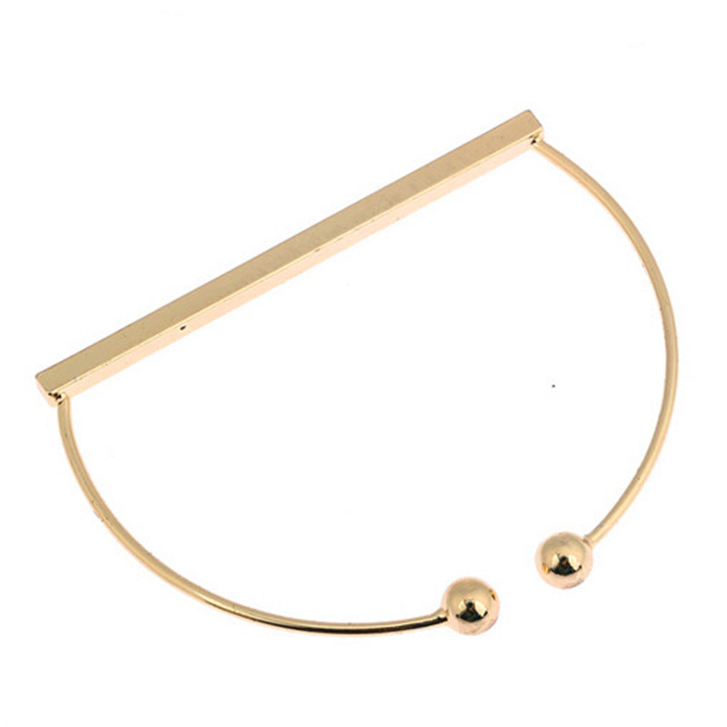 Simple minimalist Europe and the United States small and beautiful geometric bracelet Golden ladies man fashion bangle bracelet(China (Mainland))