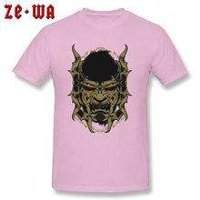 Marca 100% algodón camiseta nueva llegada hombres camiseta Halloween malvado Viking Mayhem sin enmascarar monstruo imagen impresión camiseta hombres(China)