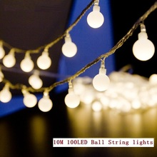 10M led string lights 100 led ball