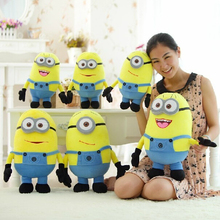"Wholesale Plush Skin 20"" 50cm Despicable Me Movie Plush Toy  Minion's Skin Jorge Stewart Dave 3D Eyes Minions Toys Free Shipping(China (Mainland))"