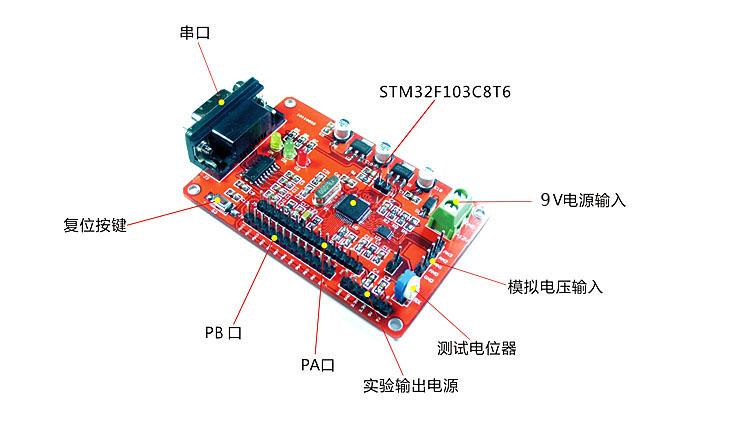 AD acquisition module /4 channel -16 bit -ADC converter serial output /STM32 microcontroller development board