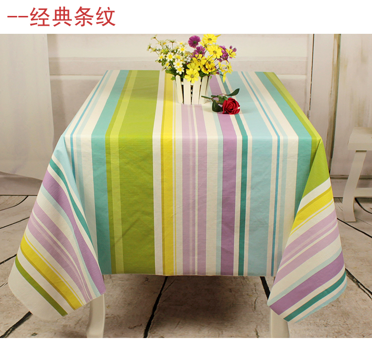 Thickening waterproof disposable fabric table cloth fashion rustic dining table tablecloth(China (Mainland))
