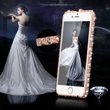 TIKITAKA Fashion Luxury Glitter Bling Diamond Crystal Snake Inlay Metal Rhinestone Bumper phone case for iPhone 5 5S 6 6S / Plus(China (Mainland))