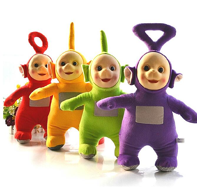 4Pcs/Set 25cm Authentic Teletubbies Plush Toy Stuffed Doll Super Quality Children Christmas Birthday(China (Mainland))
