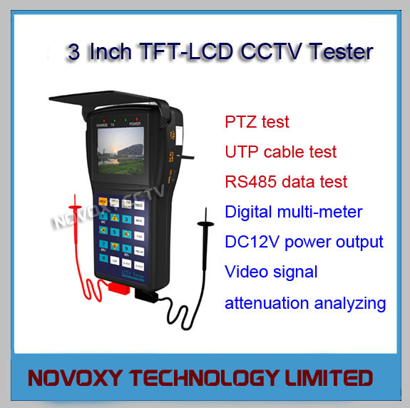 Free Shipping Multifunction CCTV Camera Video Tester PTZ Control Digital Multimeter Signal Attenuation UTP RS485 Test DC12V Out<br><br>Aliexpress