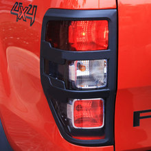 Car Exterior Accessories (2pcs/set) 100% ABS Painted Design Head Light Cover With Black Color For FORD RANGER 2012