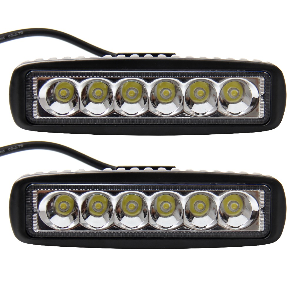 2 Pcs 18W CREE Led Work Light Bar Work Driving Offroad Car For Jeep Truck 4WD SUV ATV 36W(China (Mainland))