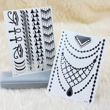 2017 Hot Sale 2x OPHIR Silver & Gold Tattoo Set Necklace Designs Metalic Flash Tattoos for Beauty Body Decoration _MT021S+MT022S(China (Mainland))