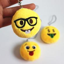 New 1piece 5cm Emoji Plush Pendant Small Plush Toy Soft Smiley Emoticon Toy Key Chain Phone Strap