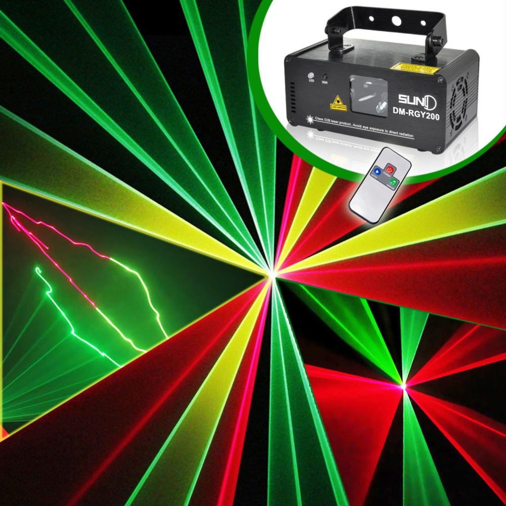 SUNY Remote DMX 200mw RGY Laser Stage Lighting Scanner DJ Show Red Green Yellow Light Effect Projector illumination Disco Beam(China (Mainland))