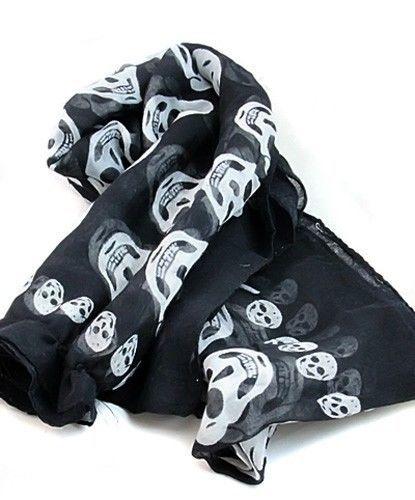 Fashion Cool Scarf Shawl Stole Warm Winter Big Skull Head Skeleton Neck Wrap(China (Mainland))