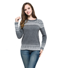 New Geometric Jacquard Weave O-Neck Pullovers Wool Computer Knitted Women's Sweater Dress(China (Mainland))