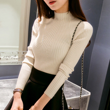 New 2016 Spring  Fashion Women sweater high elastic sexy slim Warm tight Bottoming sweater women elegant Knitted Pullovers