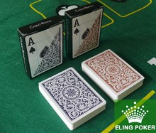 Hot Sale CASINO ROYALE Original genuiIne frosted plastic playing cards wholesale price blue + orange PVC Texas Poker(Hong Kong)