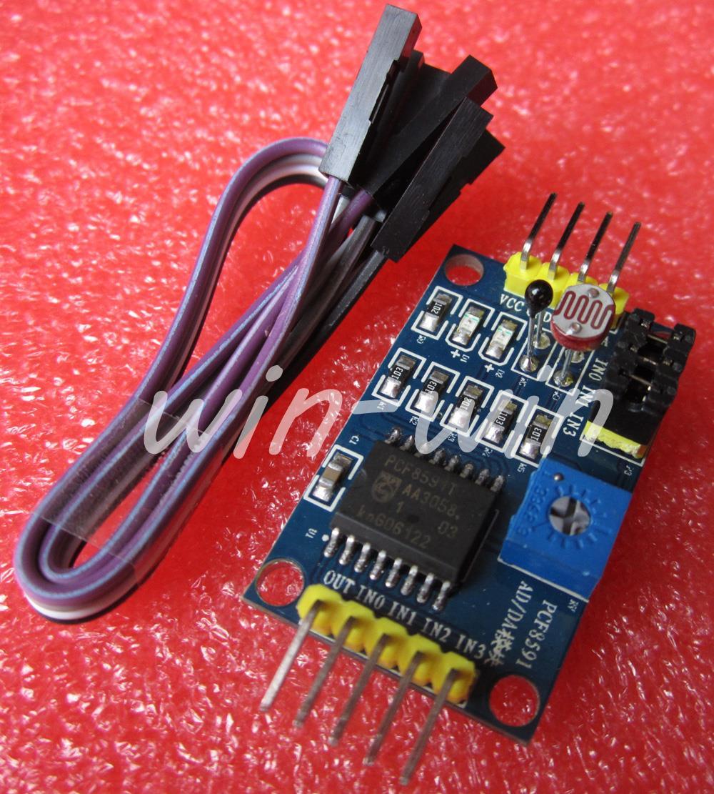 PCF8591 AD/DA Converter Module Analog To Digital Conversion+Cable(China (Mainland))