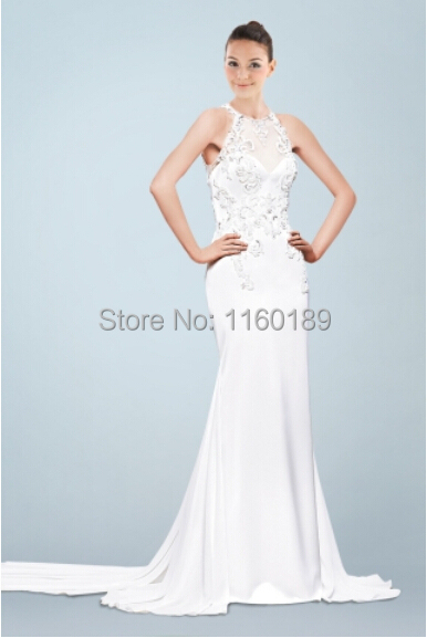 Wedding Dresses  Free Shipping : Free shipping chiffon and satin appliques wedding dress