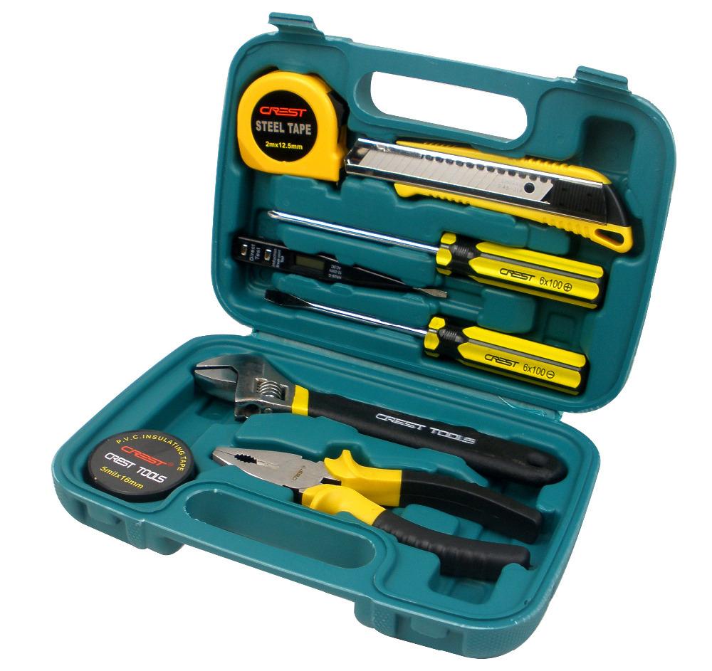 G  T 8pcs hand set Tool Set &amp; Box Auto Home Repair Kit Metric- Lifetime Warranty 011008A R<br><br>Aliexpress
