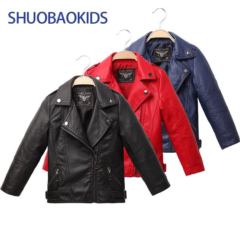 2015 new children's clothing big virgin baby boy PU leather jacket lapel jacket(China (Mainland))