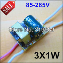 Buy 20pcs/lot, 3X1W led driver, 85-265V input 3*1W LED inside driver, 3W high power led lamp power supply transformer, free for $14.00 in AliExpress store