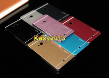 Luxury Metal Brushed Shell Aluminum+Plastic Frame Hybrid Mobile Phone Case Cover For Microsoft Nokia Lumia 535 Motomo Metal Case