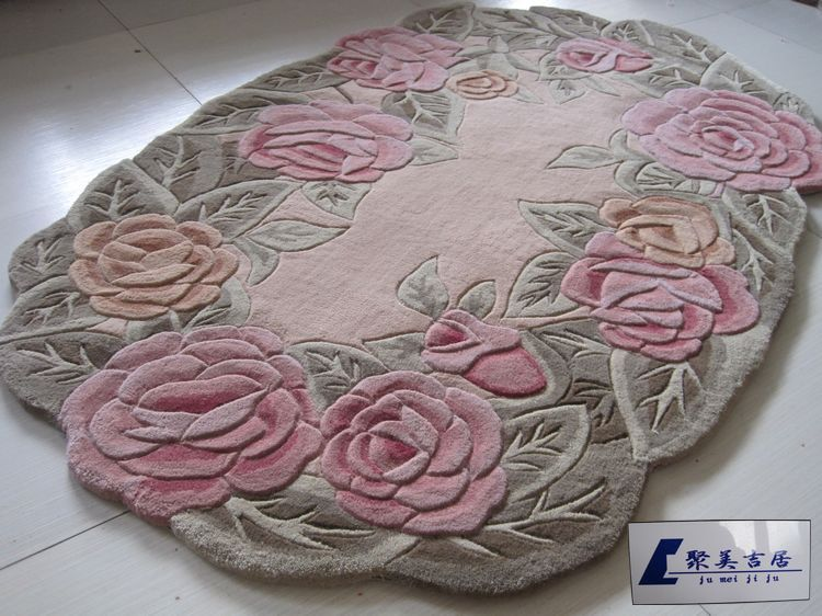 Rose Shaped Rug Area Rugs Carpet Oval Shape