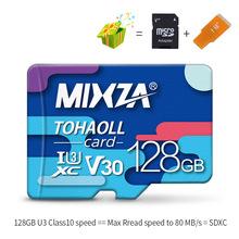 MIXZA Carte Mémoire 256 GB 128 GB 64 GB U3 80 MO/S 32 GB Micro sd carte Class10 UHS-1 carte mémoire flash microsd TF/cartes sd pour Tablet(China)