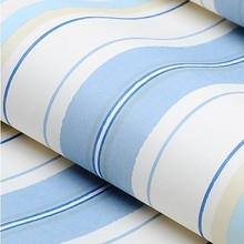 Blue Non-woven Vertical Stripes wallpaper Kids Bedroom for Girl Princess Pink Bedding(China (Mainland))