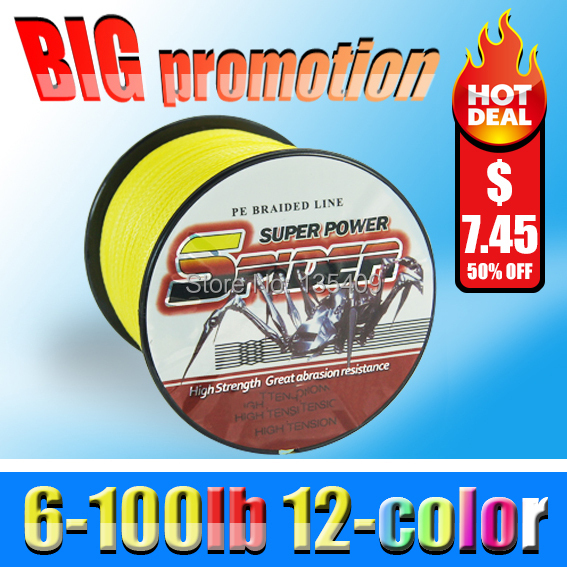 new arrival 2014 Free shipping brand Super PE braid 300m 6/20/30/50/100lb Army green fluorocarbon fishing line Spiderwire carp(China (Mainland))