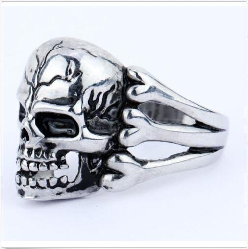 2015 человека кольцо готских мужская череп цветов байкер сплава цинка кольцо человек ...