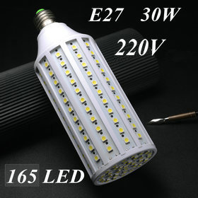 E27 30W SMD5050 165pcs led chips AC 220V 2480LM Led Corn bulb Cold/warm White corn lamp LED Bulb 7W 12W 9W 15W 25W Available