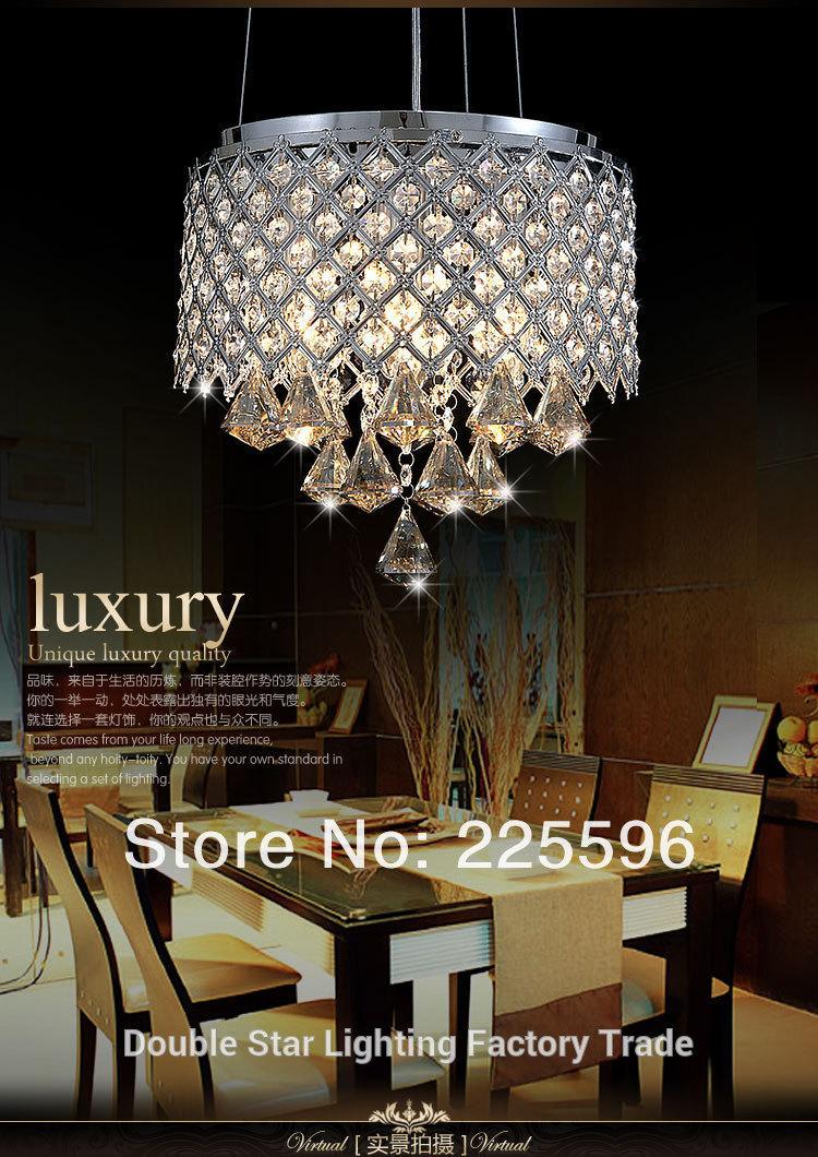Купить Гарантировано 100% Современный Кристалл Лампы столовая Подвесные Светильники внутреннего освещения