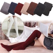 Buy Hot Sale Fashion Autumn Winter Women Wool Braid Knee Socks Thigh Highs Twist Hose Warm Stockings H9 for $2.95 in AliExpress store