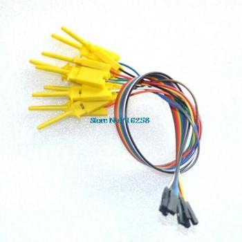 10pcs,Quality test of the quality test hook clip. Logic analyzer test folder. For USB 24M 8CH