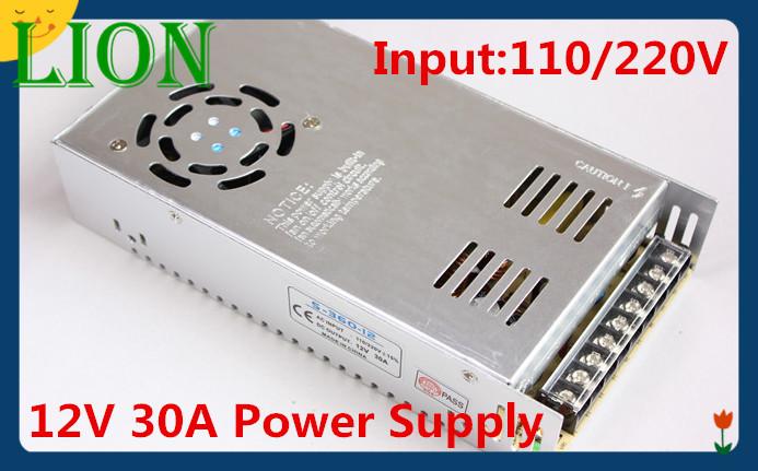 Здесь можно купить  12V 30A 350W Switching power supply Driver For LED Light Strip Display Factory Supplier Mobinse Free Shipping  Свет и освещение
