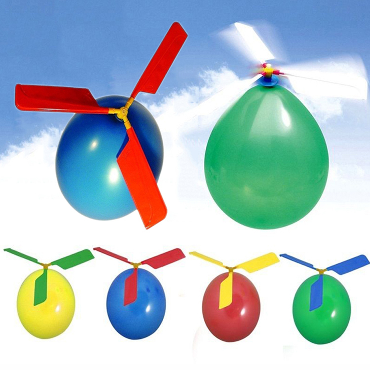 Balloon Helicopter Flying Toy Kids Boys Girl Xmas Gift Christmas Stocking Filler Color Random Drop Shipping Toy-0100-Random(China (Mainland))