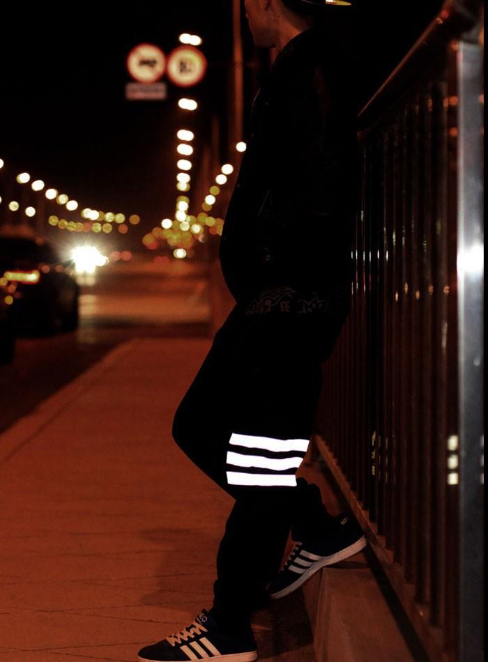 Spring men pants bag 3m reflectivegy  hiphop sport night running biker  pants parkour jogger outdoor casual harem cargo trousers<br><br>Aliexpress