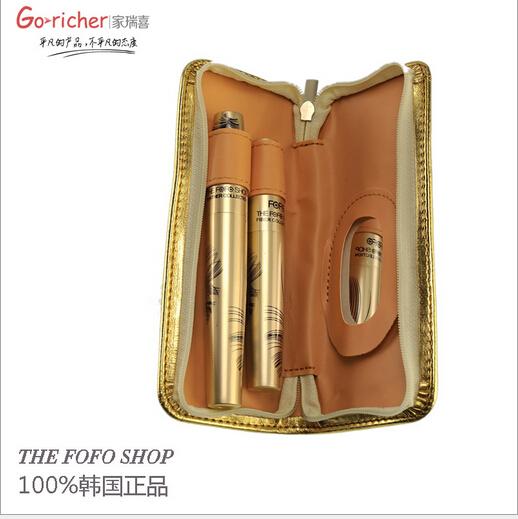 The Fofo Shop 100%Original Product 3D Fiber Long Lash Waterproof Curling Mascara brand Combination makeup(China (Mainland))
