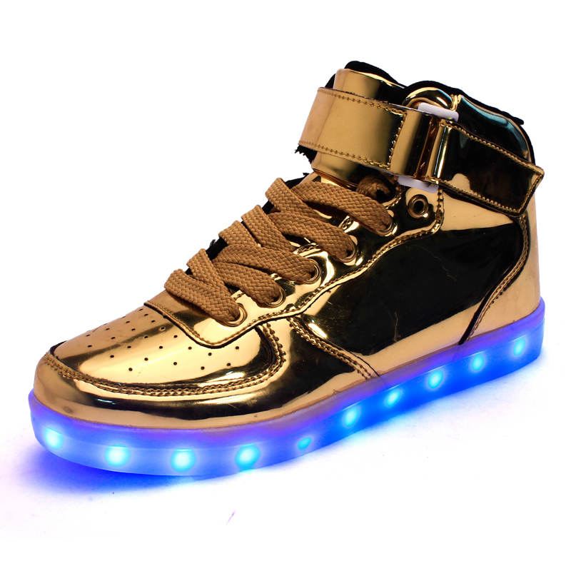 New arrival 2016 Mens outdoor sport runner shoes  zapatillas deportivas trainers casual Lighted led shoes gold free shipping<br><br>Aliexpress