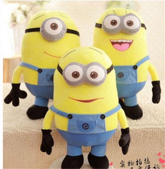 Гаджет  New 20inch/50cm Lovely Minions 3D Despicable Me Eyes Yellow Big  Minion Plush Stuffed Toys For Children Birthday Gift None Игрушки и Хобби
