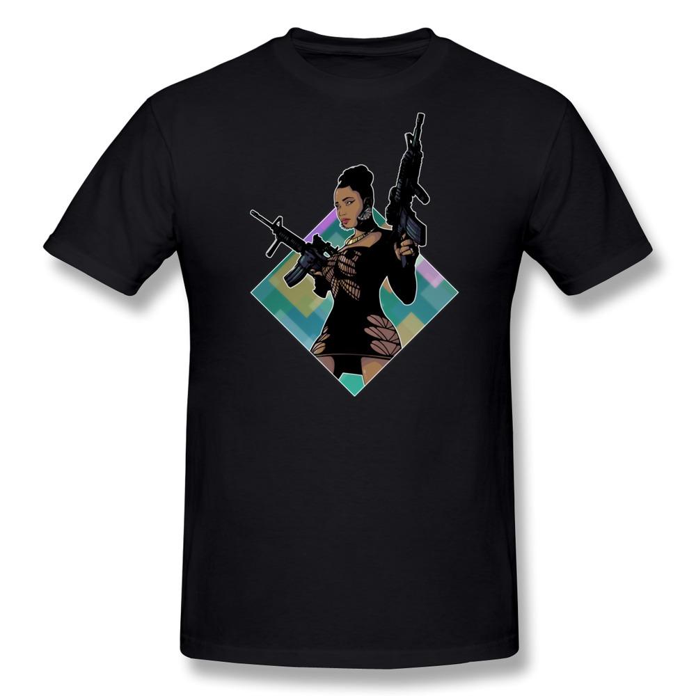 Short Sleeve Men T Shirt Nicki Minaj Lookin Ass Machine