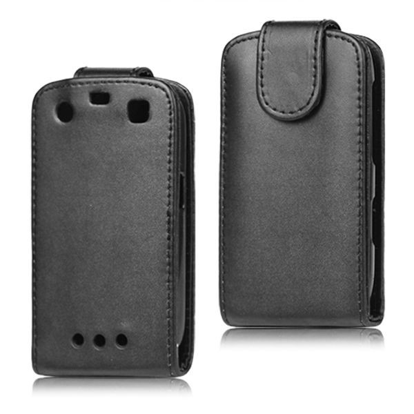 Black Leather cover For BlackBerry 9360 Case , Vertical Leather Flip Case for BlackBerry Curve 9360 9350 9370 Free Shipping(China (Mainland))