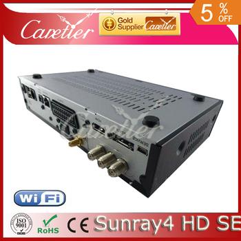 Newest Sunray SR4 800hd SE 3 in 1 tuner -T -C -S(2S) Triple tuner wifi SIM2.10 Sunray4 HD se(2pcs sr4)