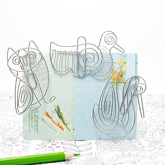 handmade stainless steel Bird paperclip crafts creative novelty gift personalized paperclip stationery small household gadgets(China (Mainland))