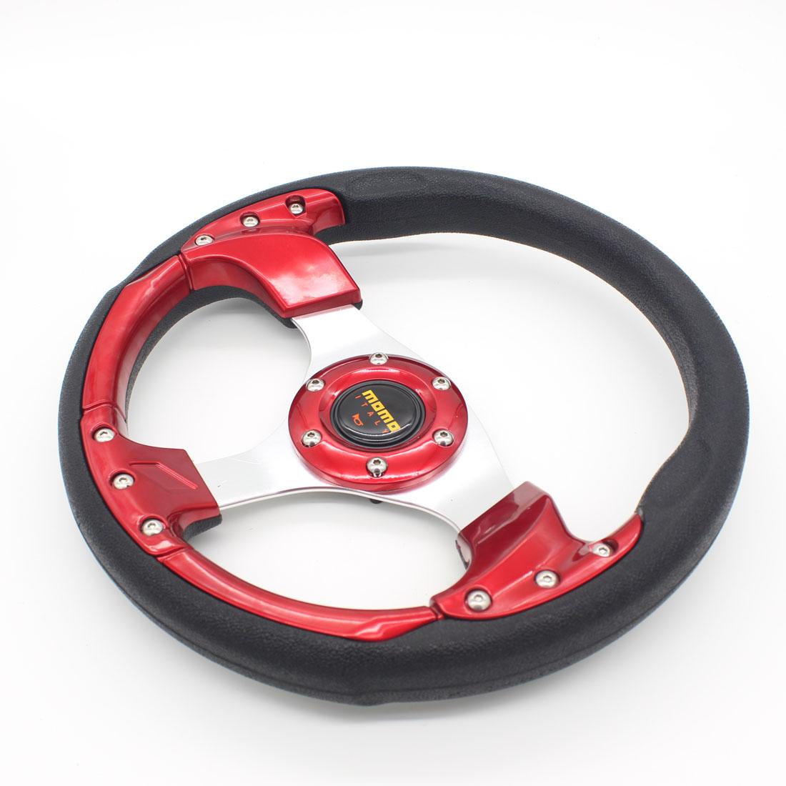 "Dongzhen 12.4"" MOMO PU Steering Wheel 320MM MOMO Steering Wheel PU MOMO Sport Steering Wheel Racing Car Steering Wheel(China (Mainland))"