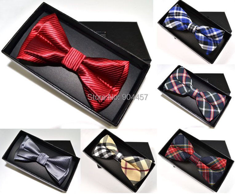 mens bowtie bow tie and gift box set pre tied adjustable